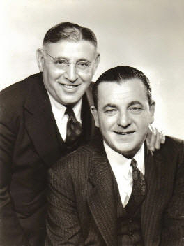Arthur Fields (left) with Fred Hall, late 1930s. Ryan Barna Collection.